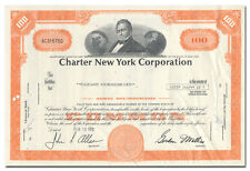 Charter New York Corporation Stock Certificate