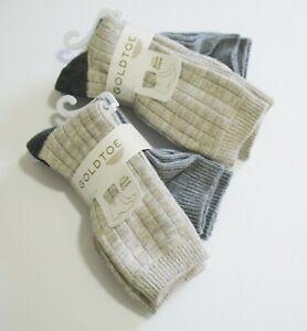 2 Gold Toe Womens 2 Pk Petra Boot Crew Socks Multi 5602 Sz 9-11 - NWT