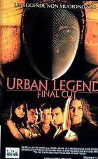 Urban Legend  Final Cut (2000)  VHS Columbia 1a Ed.