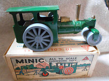 Triang Minic Scale Model Clockwork Windup Steam Roller Made in England ORIG BOX
