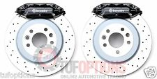 BLACK Ford FPV RSPEC Brembo FG 4 Piston REAR Disc, Pad & Caliper Set. Fits BA-BF