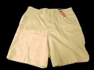 "Vineyard Vines Shorts Stone Khaki Flat Front Cotton Classic Fit Club 9"" Mens 34"