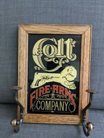 Colt Firearms Company Vintage Advertising Man Cave Gun Room Bar