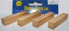 B-T Models L05 - 4 x Long Brown Packing Cases 1/76 Scale = 00 Gauge