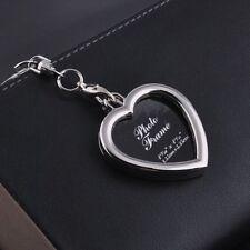 Herz Schlüsselanhänger aus Metall Foto Rahmen Liebe Anhänger Hochzeit Verlobung