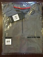 NEW Mizuno Performance YL Baseball Warmup Gray Batting Jacket Youth Large