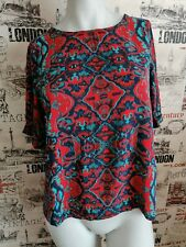Monsoon Multicoloured Paisley patterned top blouse size 10 UK