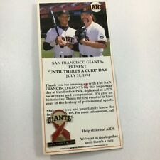San Francisco Giants Leaders Against Aids Until There's A Cure 1994 Pin and Card