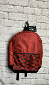 True Religion Mens Military Backpack Red&Black New NWT