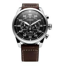 Citizen CA4210-16E Eco-Drive Solar Powered Leather Strap Men's Watch 45mm
