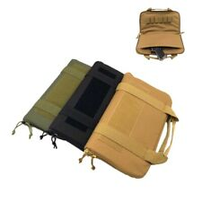 """14"""" Tactical Airsoft Hand Gun Bag Nylon Padded Pistol Magazine Carry Case Pouch"""