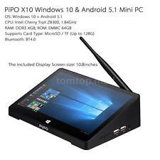 PiPO X10 Windows 10 Android 5.1 Dual OS Smart TV Box Intel 4GB/64GB Mini PC L4B4