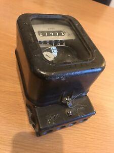 vintage electricity usage meter 240V