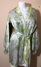 $168 NWT Victoria Secret Designer Collection Fantasy Island Silk Kimono Robe M/L