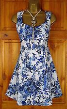 Skater Short/Mini Synthetic Floral Dresses for Women