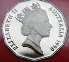 *1990 50 cent proof coin from set. Only 53,000 made! Coat of Arms! Only in sets!
