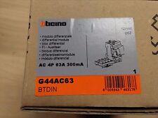 Modulo Differenziale B Ticino tipo G44 AC 63