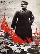 PROPAGANDA WWII RED ARMY VICTORY SOVIET USSR COMMUNISM RED POSTER PRINT BB2816B