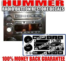 2006 2009 Hummer H3 Radio Button Decal Stickers Repair Kit