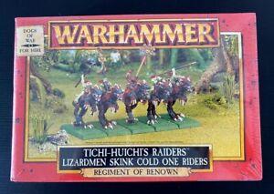 GW Warhammer Fantasy Lizardmen Tichi Huichi Raiders Dogs Of War Metal Sealed Box