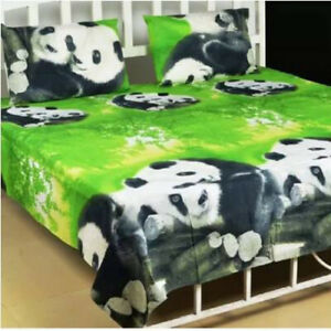 Microfiber Double King Animal Bedsheet With 2 Pillow Covers Cases Handmade