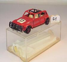 Majorette 1/60 Nr. 206 Citroen Dyane Rally rot Startnummer 37 OVP #061