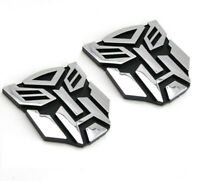 2pcs Transformers Car Sticker Autobot 3D Chrome Emblem Logo Auto Aufkleber
