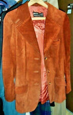 Vintage Leather Suede Blazer Jacket (Size 9-10)