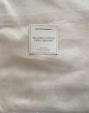 Restoration Hardware Brushed Cotton Twill Drapery rod Pocket