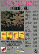 """PUBLICITE ADVERTISING 014   1988    NRJ  radio  """" INDOCHINE"""""""