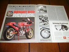 1977 DUCATI 900 SS CUSTOM HOT ROD  ***ORIGINAL 1987 ARTICLE***