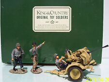 KING & COUNTRY WW2 GERMAN ARMY WS033A-D ANTI AIRCRAFT GUN & CREW MIB