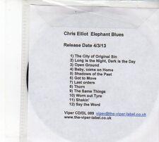 (DW994) Chris Elliot, Elephant Blues - 2013 DJ CD