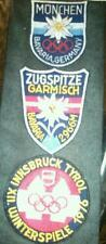 RARE GERMAN EMBROIDERED OLYMPIC PATCHES