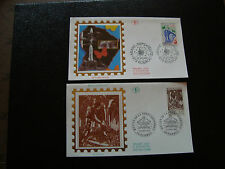 FRANCE - 2 enveloppes 1er jour 1995 (fusee ariane-metier foret) (cy21) french