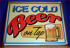 Western Decor Lodge Cabin ~Ice Cold Beer~  Metal Sign