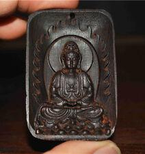 KALIMANTAN AGARWOOD NECKLACE PENDANT KWAN YIN STATUE BUDDHA A GUANYIN OODU OUD