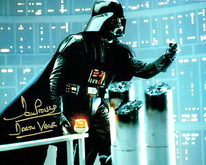 Dave PROWSE SIGNED Autograph Darth VADER Star Wars 10x8 Gold Pen Photo AFTAL COA