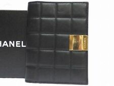 Authentic CHANEL Leather Day Planner Black color 0144