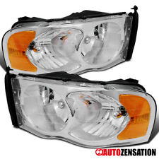 02-05 Dodge RAM 1500 Crystal Chrome Clear Headlight 03-05 RAM 2500 3500