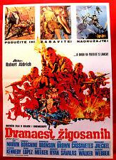 DIRTY DOZEN 1968 LEE MARVIN JIM BROWN CASSAVETES RYAN SAVALAS EXYU MOVIE POSTER