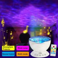 Relaxing Ocean Wave Music LED Night Light Projector Remote Lamp Baby Sleep Gift