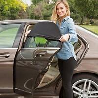 2pcs Car Rear Window UV Sun Sunshine Blocker Cover Seat Shade Mesh Blind