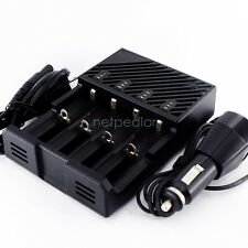 CAR/WALL Charger FOR 18650/18500/16340/AA/AAA Li-ion LiFePO4/Ni-Cd/Ni-MH Battery