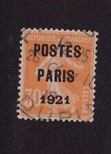 Préoblitéré N°29 30 c semeuse poste Paris 1921