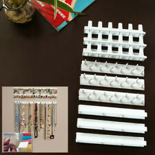 9Pc Wall Mount Hanging Necklace Bracelet Jewelry Organizer Display Stand Holder