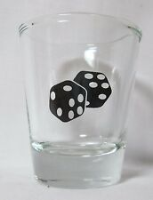 Fuzzy Dice Image on Clear Shot Glass
