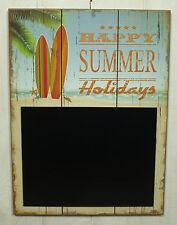 """Wandhänger Tafel """"Happy ..."""" Memotafel Hawaii Stil Schild Wanddeko 40x30cm"""