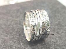Spinner Ring 925 Sterling Silver Ring Handmade & Meditation Ring Size 10 .mm36