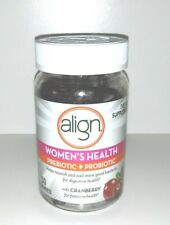 NEW Align Women's Health Prebiotic + Probiotic With Cranberry 50 Gummies SEALED